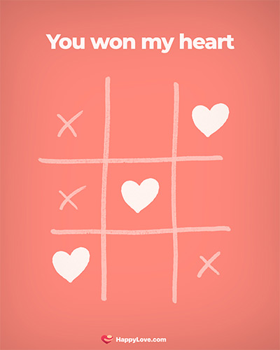 You won my heart
